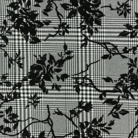 Tissu Gabardine Viscose Tabatha - Noir x 10cm