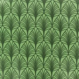 Tissu coton crétonne enduit Leaf - vert x 10cm