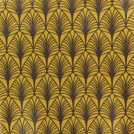 Tissu coton crétonne enduit Leaf - moutarde x 10cm
