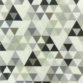 Tissu coton crétonne enduit Triangolo - gris x 10cm
