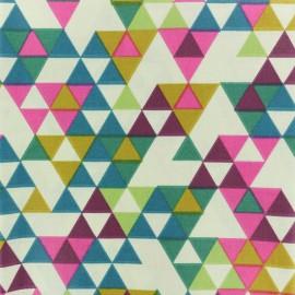 Tissu coton crétonne enduit Triangolo - Multi x 10cm