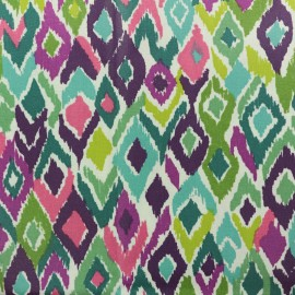 Coated cretonne cotton fabric - Multicolor Triangolo x 10cm