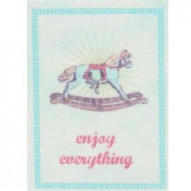 """Étiquette adhésive Rétro """"Enjoy everything"""""""
