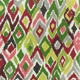 Tissu coton crétonne enduit Pretoria - rouge x 10cm