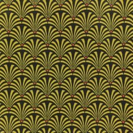 Tissu coton crétonne Gustave - moutarde x 10cm