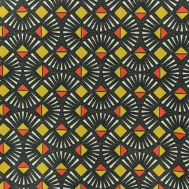Tissu coton crétonne Emile - Gris x 10cm