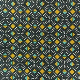 Tissu coton crétonne Emile - bleu marine x 10cm