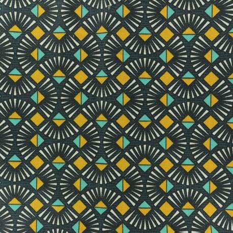 Cretonne cotton fabric - Grey Emile x 10cm