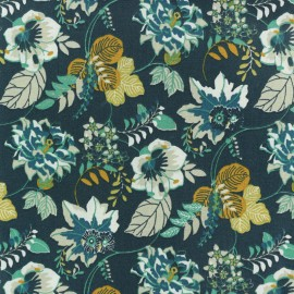Cretonne cotton fabric - Blue Ernest x 10cm