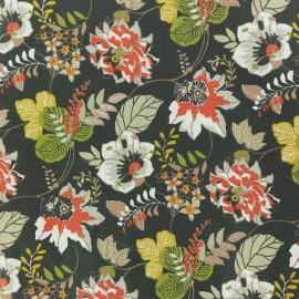 Tissu coton crétonne Ernest - brun x 10cm