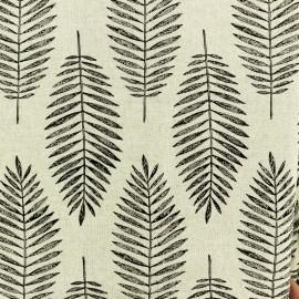Tissu polycoton lurex Palm - Naturel/argenté x 10cm