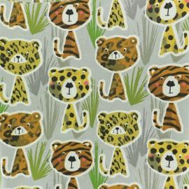 ♥ Coupon 130 cm X 160 cm ♥ Tissu coton crétonne Elliott et Max - gris