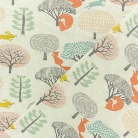 Tissu coton jersey Timéo l'écureuil - orange x 10cm