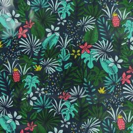 Tissu coton crétonne enduit Cebu Island - bleu x 10cm