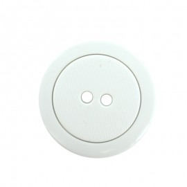 40 mm Polyester Button - White Baptiste