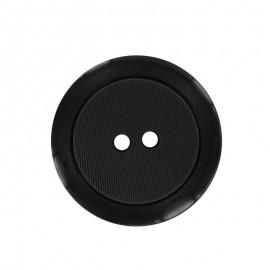 Polyester Button - Black Baptiste
