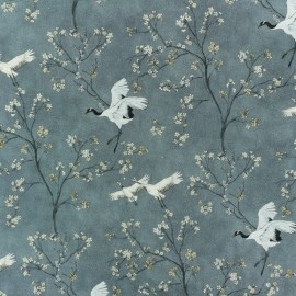 Cotton fabric - grey Mandchourie  x 10cm