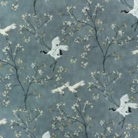 Tissu coton Mandchourie - gris x 10cm