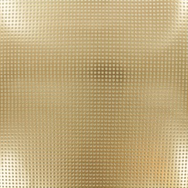 Lacquered Drilled Vinyl Fabric - Cooper Gold x 10cm