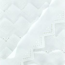 English embroidery 35 mm - White Sophia x 1m