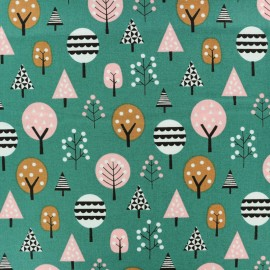 Cotton Dashwood fabric Geo Forest - Green Trees x 10cm
