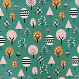Tissu coton Dashwood Geo Forest Trees - vert x 10cm