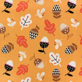 Tissu coton Dashwood Geo Forest Acorn - orange x 10cm
