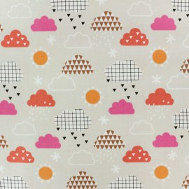 Cotton Dashwood fabric Geo Forest - Beige clouds x 10cm