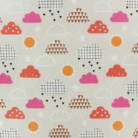 Cotton Dashwood fabric Geo Forest - Beige clouds x 10cm