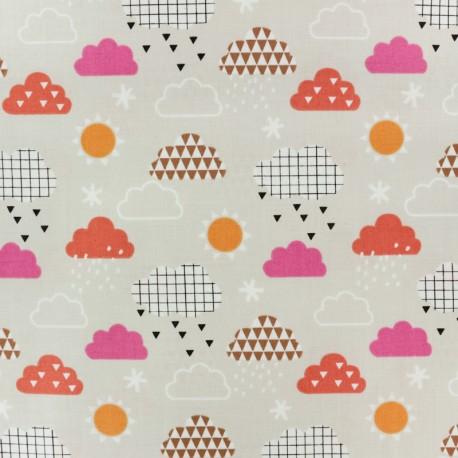 Tissu coton Dashwood Geo Forest Clouds - beige x 10cm