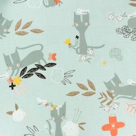 Tissu coton Dashwood Emi & the bird - gris clair x 10cm