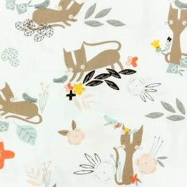 ♥ Coupon 45 cm X 110 cm ♥ Cotton Dashwood fabric Emi & the bird - raw
