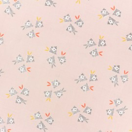 Cotton Dashwood fabric Emi & the bird - pink Gift x 10cm