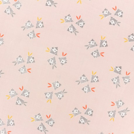 Tissu coton Dashwood Emi & the bird Gift - rose x 10cm