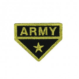 Army Collection Iron-On Patch - Gold Army