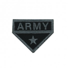 Army Collection Iron-On Patch - Grey Army