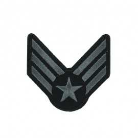 Army Collection Iron-On Patch - Grey Military Rank