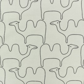 Tissu jersey Chameau -gris  x 10cm