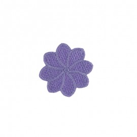 Embroidered Iron-On Patch - Lilac Florette