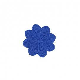 Thermocollant Brodé Florette - Bleu Roi