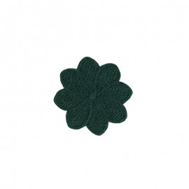 Embroidered Iron-On Patch - Green Florette