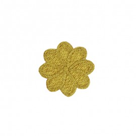 Embroidered Iron-On Patch - Gold Florette