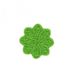 Embroidered Iron-On Patch - Anise Green Florette