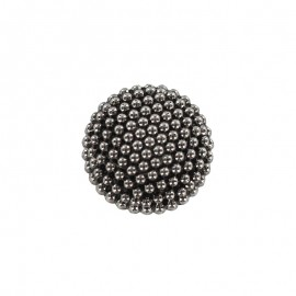 10 mm Polyester Button - Ancient Silver Elisabeth
