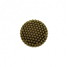 Bouton Polyester Elisabeth 10 mm - Vieil Or