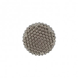 10 mm Polyester Button - Silver Elisabeth