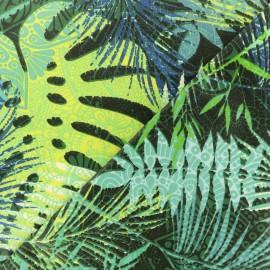 Tissu coton crétonne enduit Carabao Island - bleu x 10cm