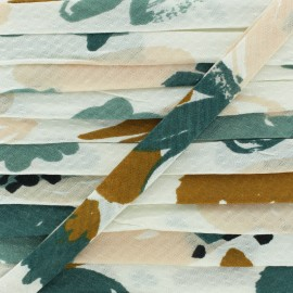 20mm Viscose Bias binding - Posie Green Atelier brunette x 1m