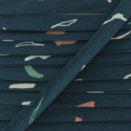 20mm Viscose Bias binding - Tabby Green Atelier brunette x 1m