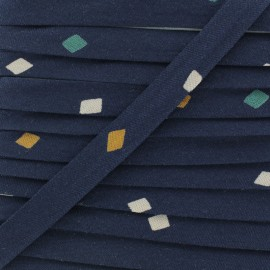 20mm Viscose Bias binding - Shine Night Atelier brunette x 1m